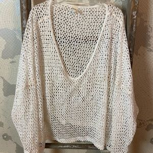 We the Free Free People open knit coverup S